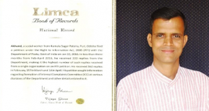 Activist Akhand gets Limca Records