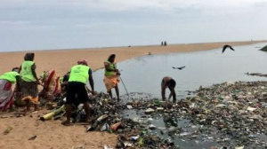 Cleanliness drive on Bankimuhan beach