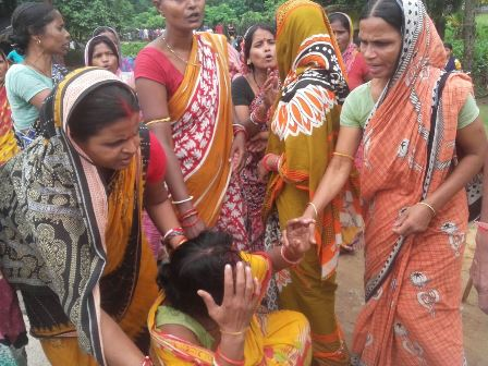 Women thrash woman after tying her hands for selling liquor