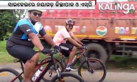 Collector, SP go on bicycle ride to meet people