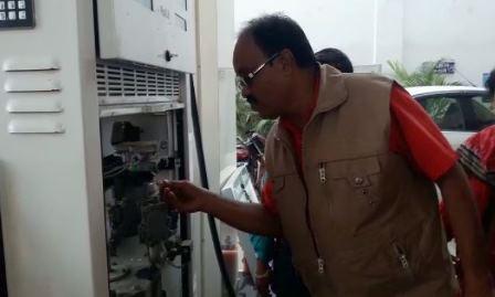 petrol pump raid Sambalpur