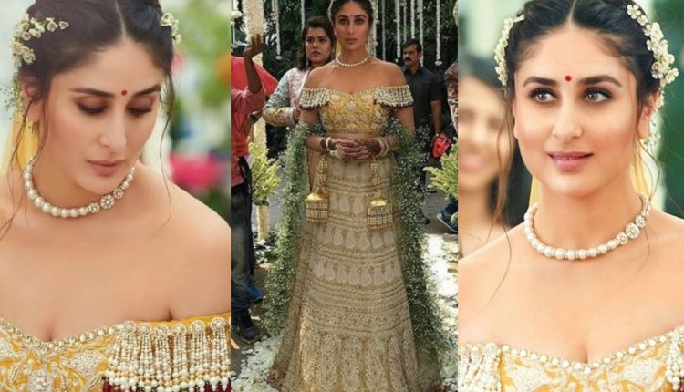 Kareena Kapoor Khan in an AJSK outift for Veere Di Wedding