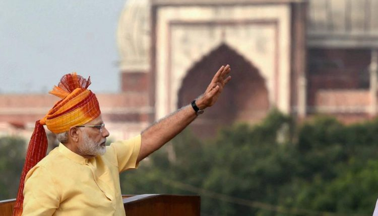 PM Modi at the Red Fort