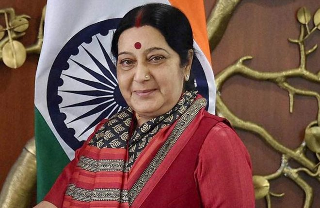 Sushma Swaraj rubbishes rumour of being appointed as AP Guv