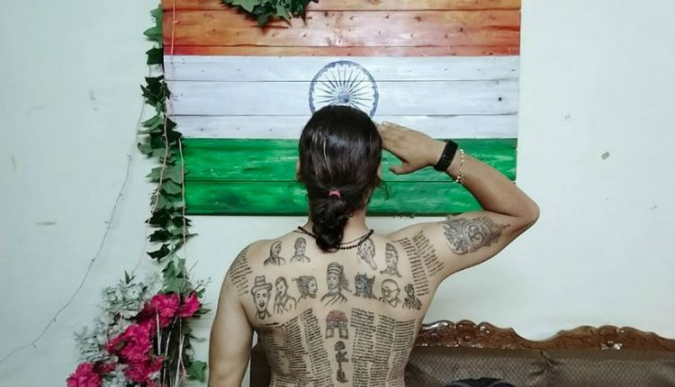 Meet Abhisekh Gautam Who Has Tattooed The Names Of 560 Indian Army Martyrs On His Back