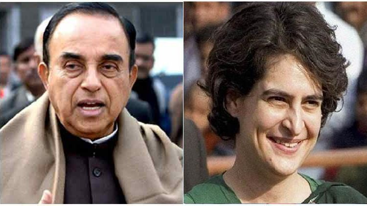 Priyanka Gandhi has bipolar, beats up people at: Subramanian Swamy