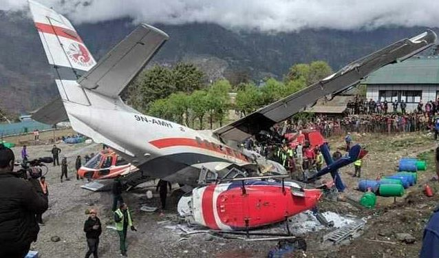 Nepal: 3 Killed As Plane Hits 2 Helicopters During Take-Off