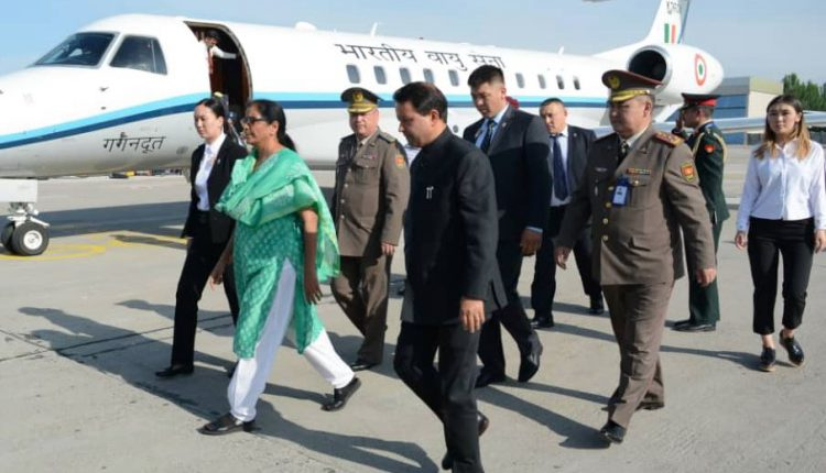 Nirmala Sitharaman Arrives In Krygyzstan For Defence Ministers Meet