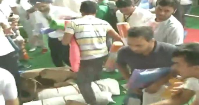 Watch: People Loot Mats At Yoga Day Event In Haryana