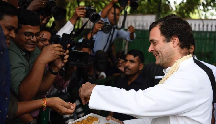 Rahul Gandhi Distributes Sweets On Birthday, Says 'Overwhelmed' By Love