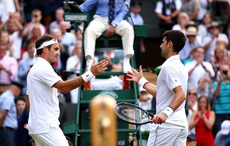 Novak Djokovic beats Roger Federer to win fifth Wimbledon title