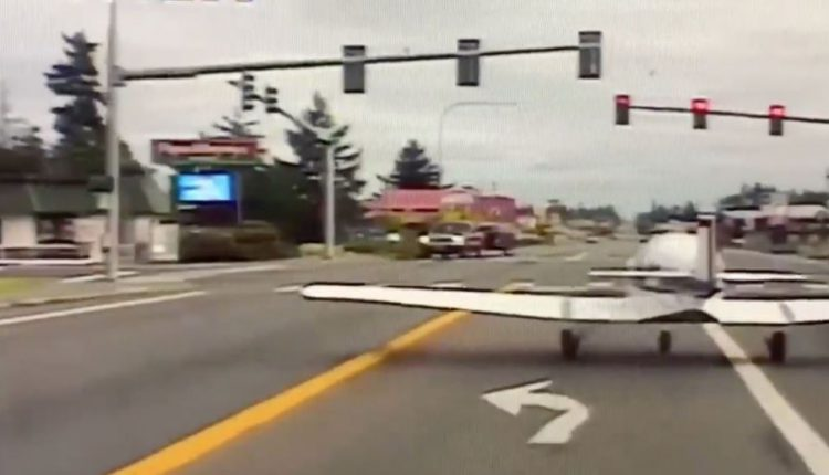 Small Plane Makes Emergency Landing On Road In US