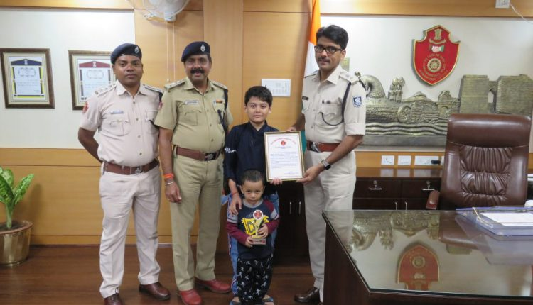 11-year-old Boy Felicitated For Distributing Drinking Water To Traffic Cops In Cuttack