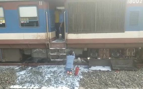 DMU Train Catches Fire In Odisha