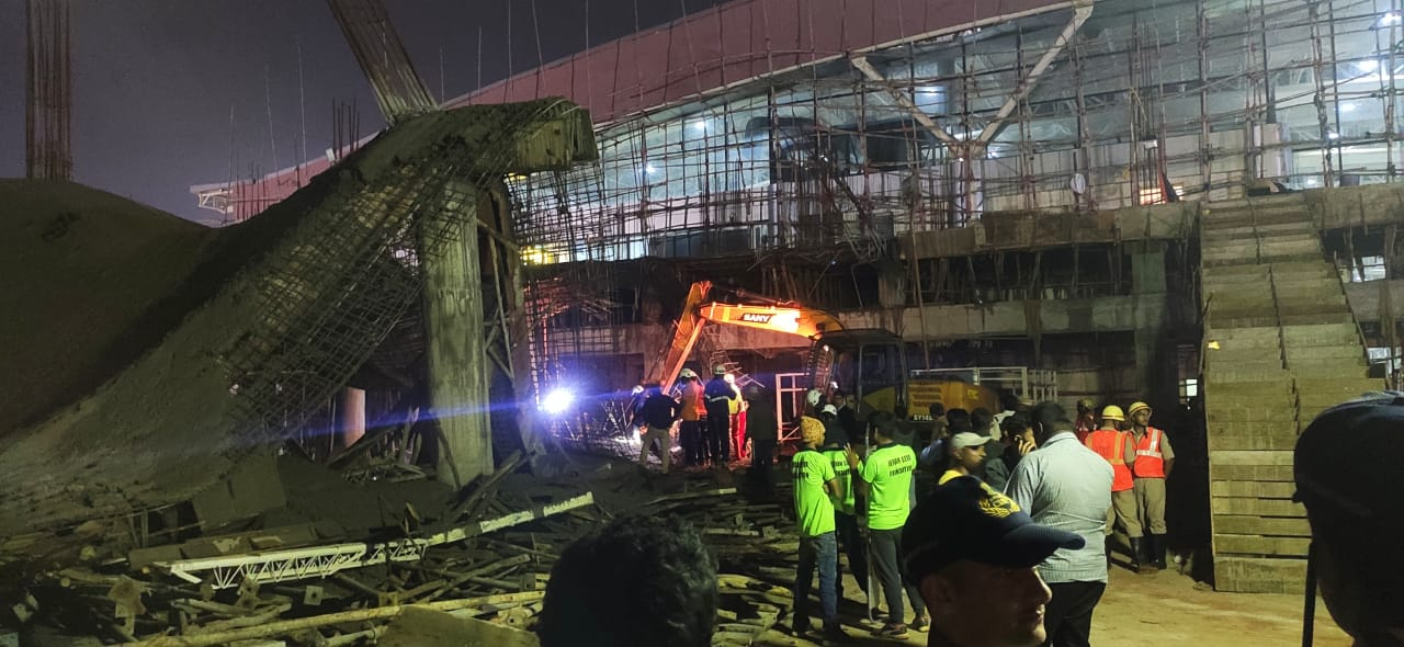 Bhubaneswar airport building collapse
