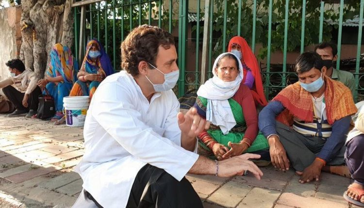 FM calls Rahul's meeting with migrants a 'dramabaazi'