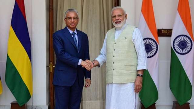 Prime Minister Narendra Modi and Prime Minister of Mauritius Pravind Jugnauth jointly inaugurate the new Supreme Court Building of Mauritius