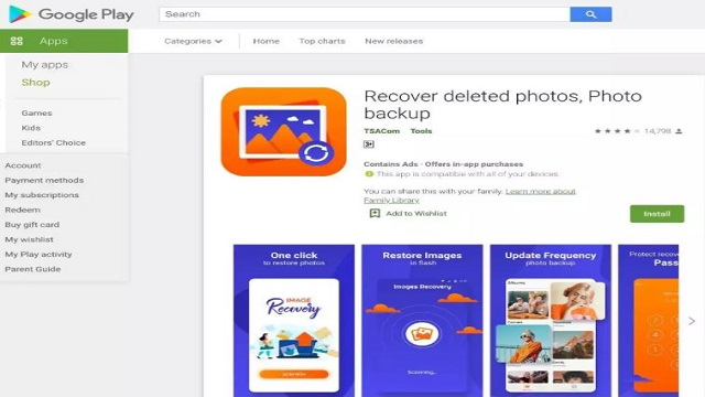Recover deleted photos, Photo backup app