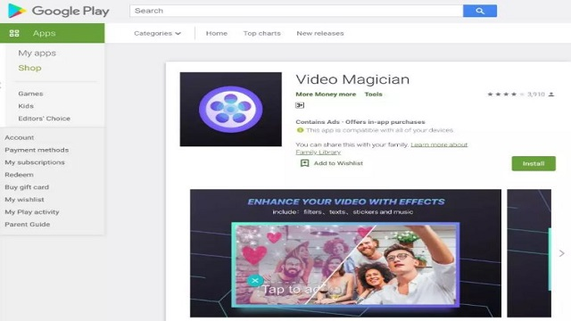 Video Magician app