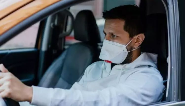 mask not required while driving