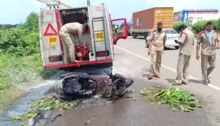 Fuel tank of moving Scooter blasts in tangi