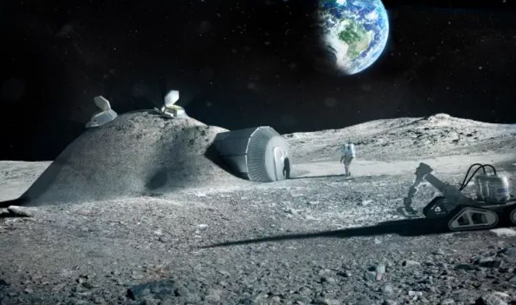 humans on moon
