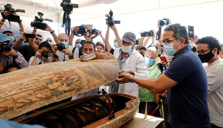 59 ancient coffins unearthed
