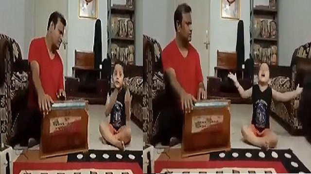 Watch How This Little Boy Sings Classical Song To The Tunes Of The Harmonium; Videos Become Viral