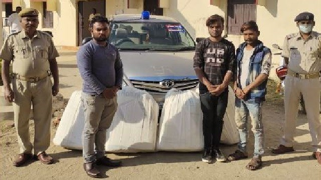Ganja Seized From Vehicle With Odisha Police Escort Sticker, Beacon; 3 Arrested