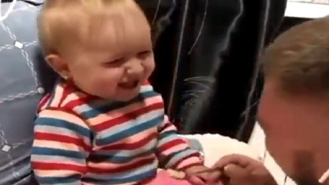 Toddler Giggles With Dad In This Adorable Video; Watch