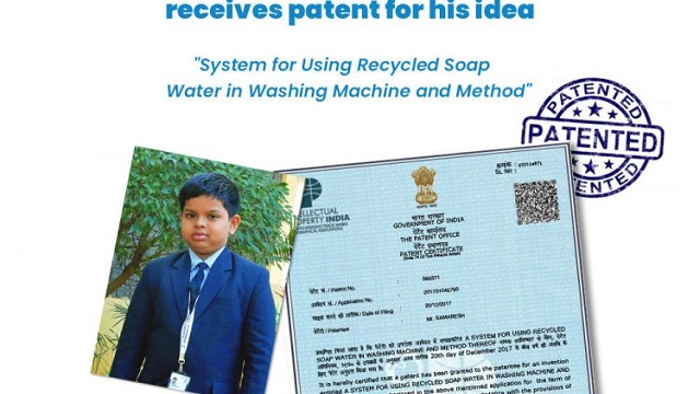 KiiT International School Student Receives Patent For Washing Machine That Recycles Soap Water