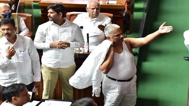 Karnataka Congress MLA Does A Salman Khan With Shirtless Protest, Suspended