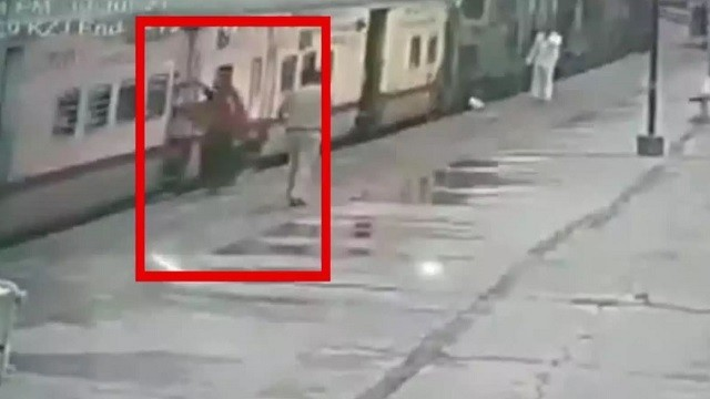 Woman escapes death by train in Telengana